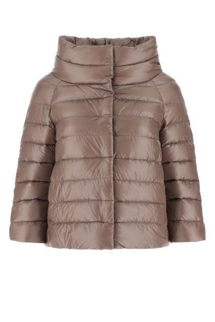 Antiqued pink nylon Sofia down jacket