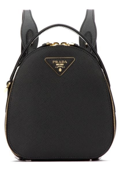Black leather Odette backpack