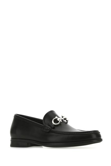 Black leather Chris loafers