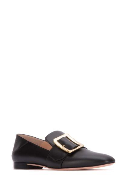 Black leather Janelle loafers