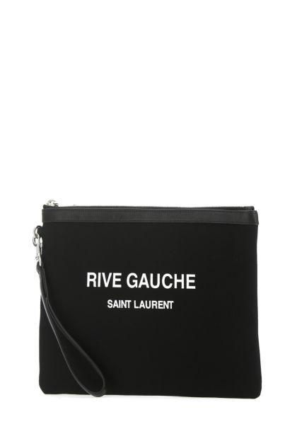 Black canvas clutch