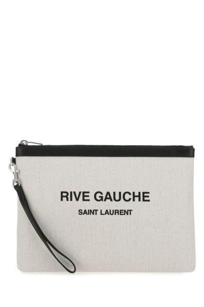 Chalk canvas Rive Gauche clutch
