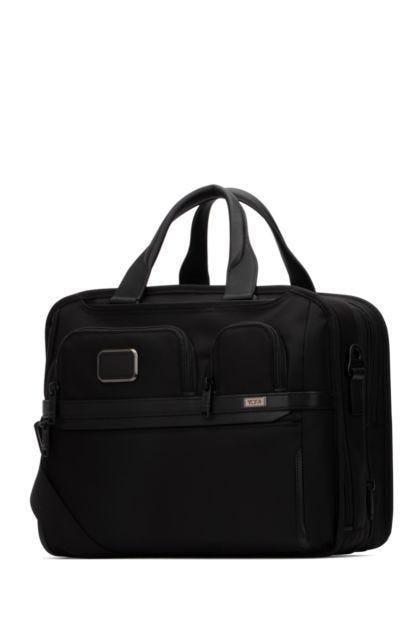 Black nylon Alpha 3 travel bag