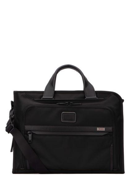 Black nylon Deluxe travel bag