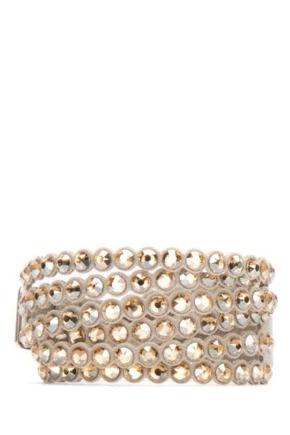 Embellished pumice fabric bracelet