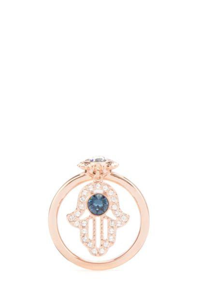 Rose gold metal ring