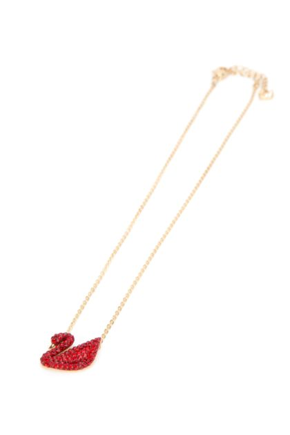 Gold metal Swan necklace
