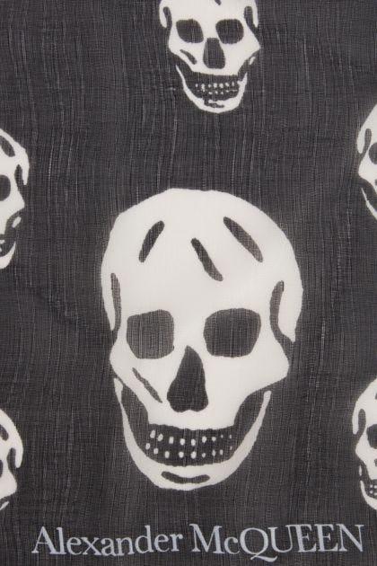 Printed crepe Biker foulard