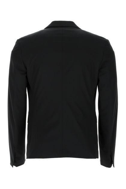 Black stretch nylon blazer