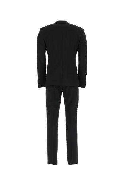 Black stretch wool suit