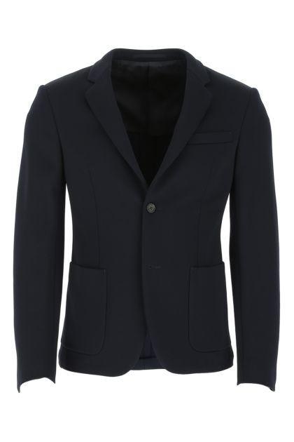 Midnight blue nylon blend blazer