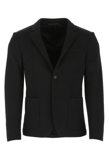 Black nylon blend blazer