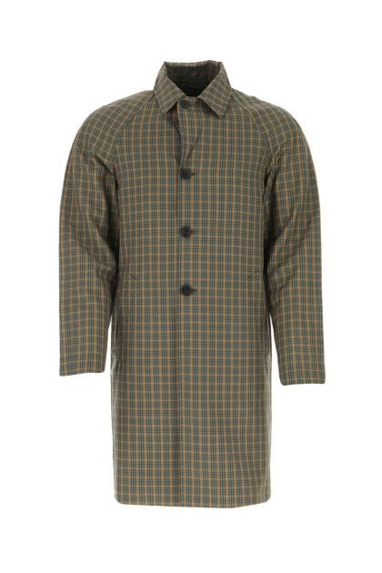 Embroidered wool blend overcoat