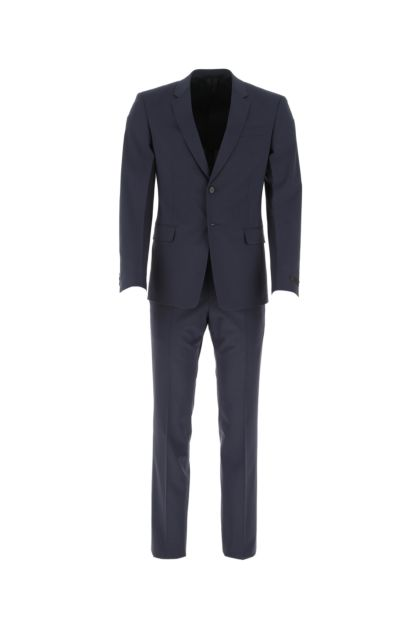 Navy blue stretch wool suit