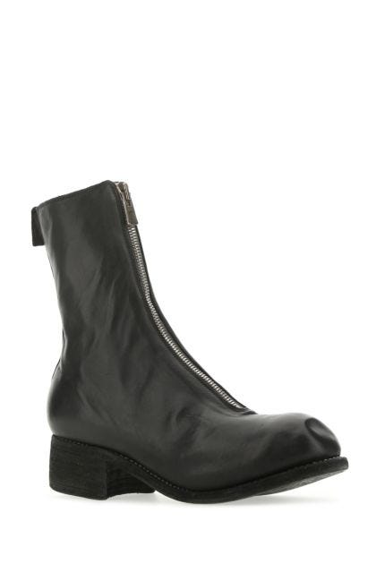 Black leather PL2 boots