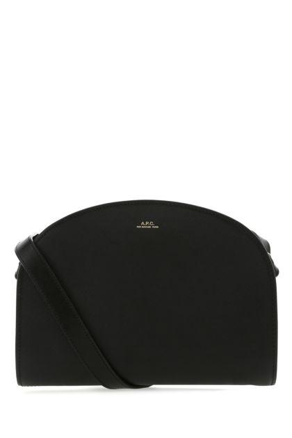 Black leather Demi Lune shoulder bag