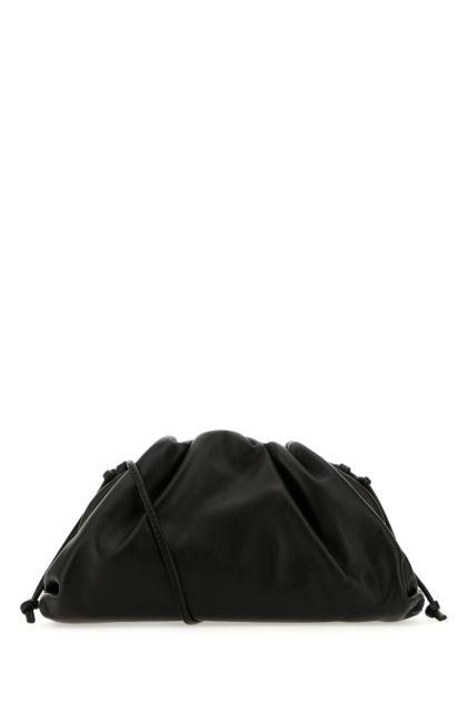 Black nappa leather mini Pouch clutch