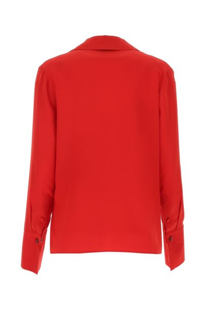 Titian red crepe blouse