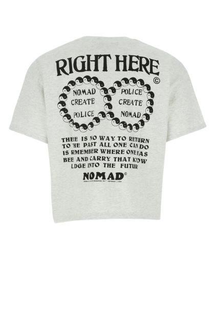 Melange light grey cotton t-shirt