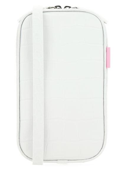 White leather Los Angeles crossbody bag