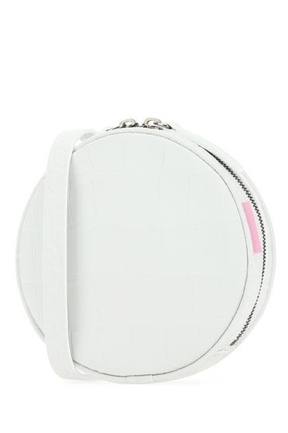 White leather Milano crossbody bag