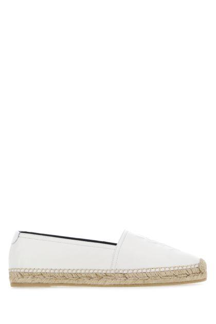 White nappa leather espadrilles