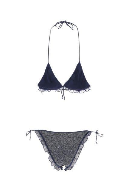 Embellished stretch nylon Tulle Miami bikini