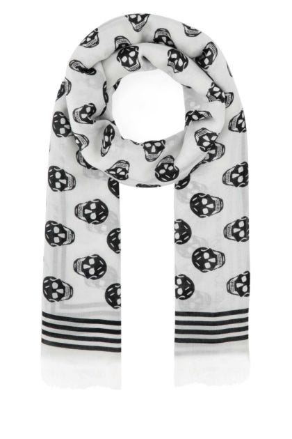 Printed modal Biker foulard