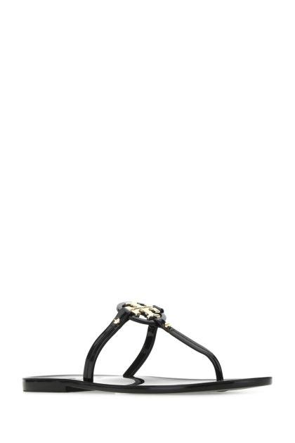 Black leather Mini Miller thong slippers