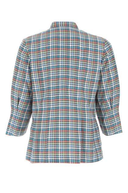 Embroidered linen blend Lyadi blouse