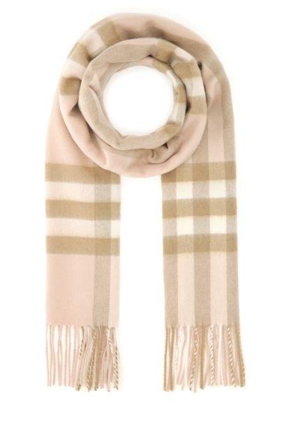 Embroidered cashmere scarf