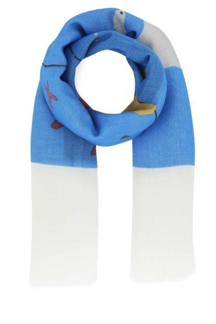 Printed fabric foulard