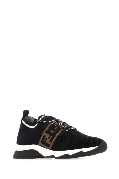Black fabric sneakers