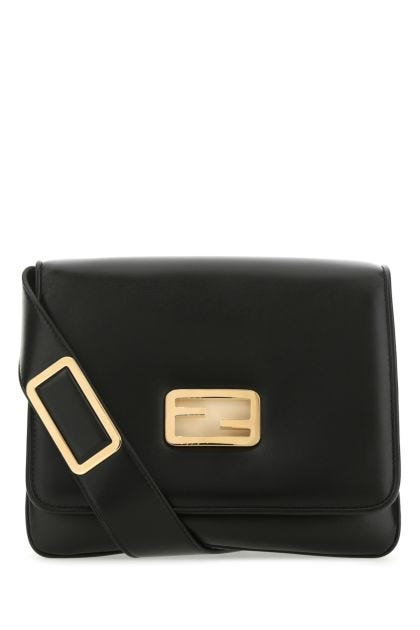 Black nappa leather medium ID crossbody bag