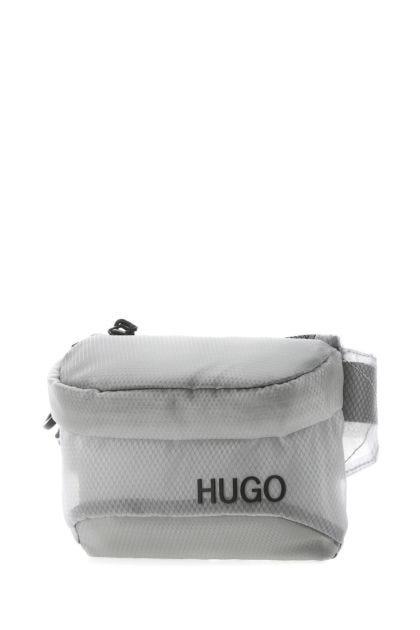 Light grey fabric Cyber belt bag