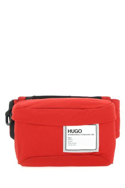 Red nylon belt bag