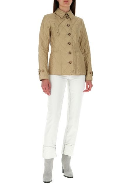 Beige polyester jacket