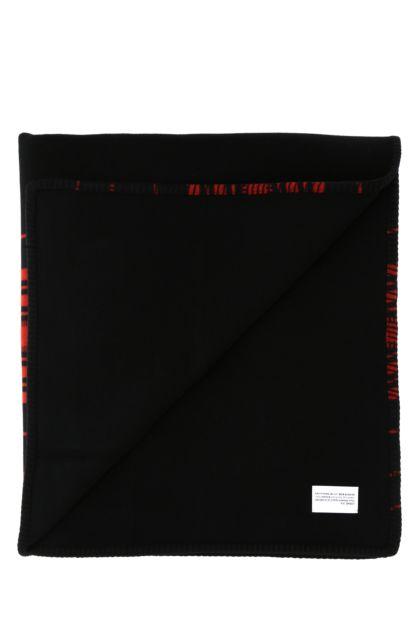Black wool blend blanket