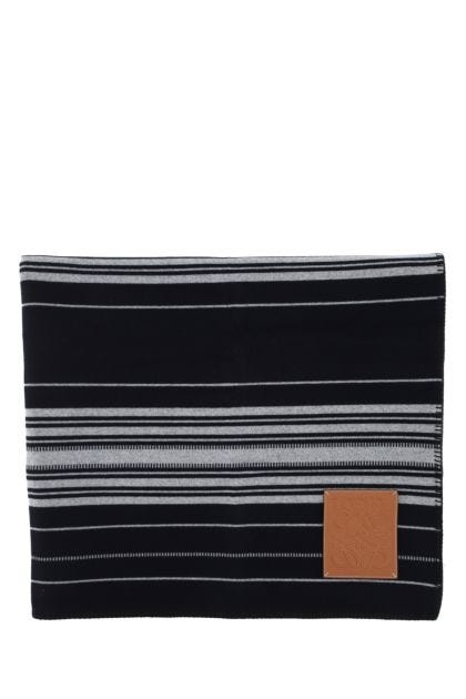Embroidered wool blend blanket
