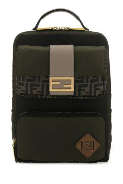 Multicolor nylon backpack