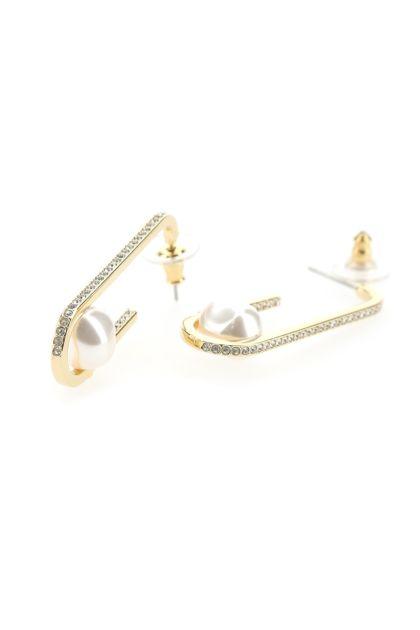 Embellished metal So Cool earrings