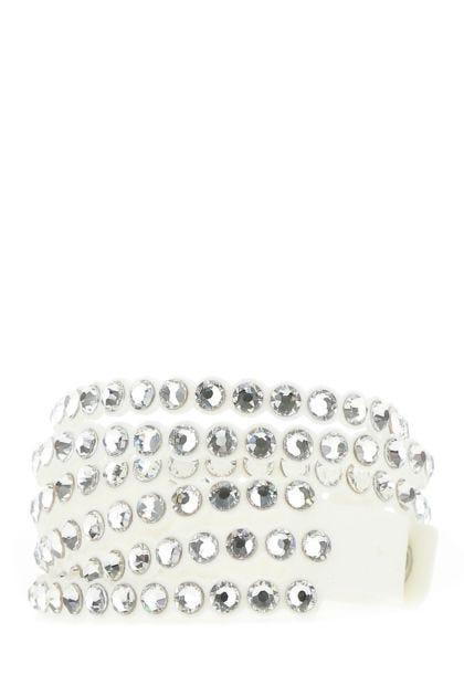 Embellished alcantara Power bracelet