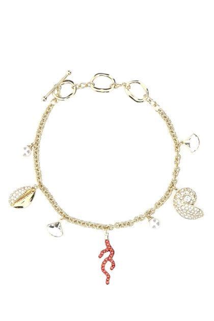 Gold metal Shell bracelet