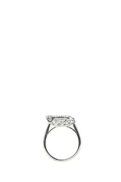 Silver metal Dancing Swan ring