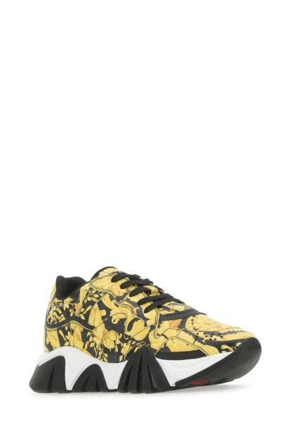 Printed leather Squalo sneakers