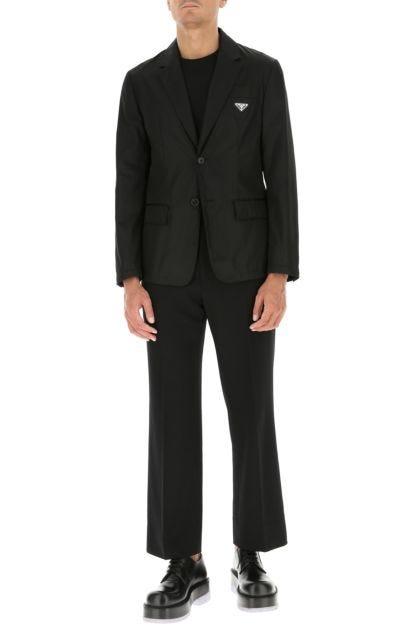 Black nylon blazer