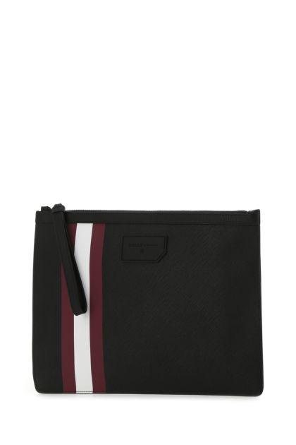 Black canvas large Bollis clutch