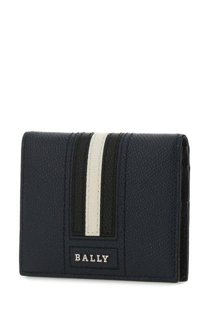 Navy blue leather Talder card holder