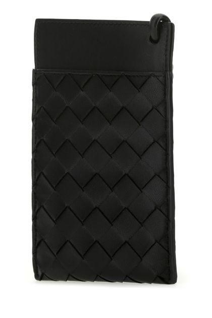 Black nappa leather phone case