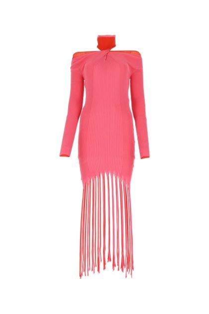 Two-tone cotton blend dress